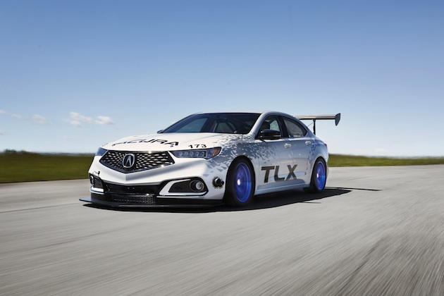 The 2018 Acura TLX A-Spec makes its racing debut at Pikes Peak in the Exhibition class.