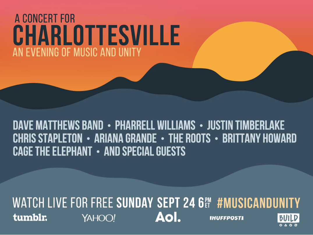 Poster for the Concert for Charlottesville