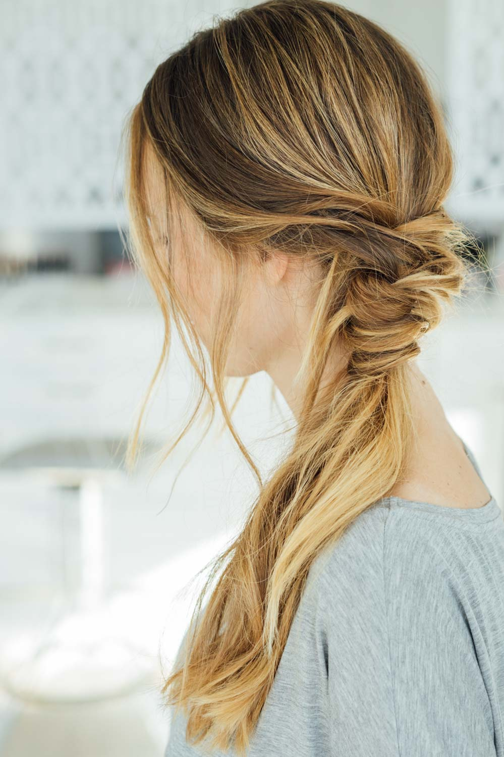 This Messy Braid Wrap Ponytail Is Absolutely Gorgeous Aol Lifestyle