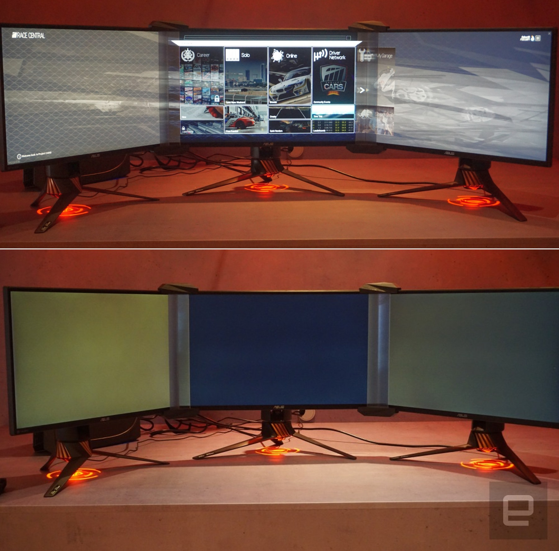 The ASUS 'Bezel-free Kit' is a messy multi-monitor solution