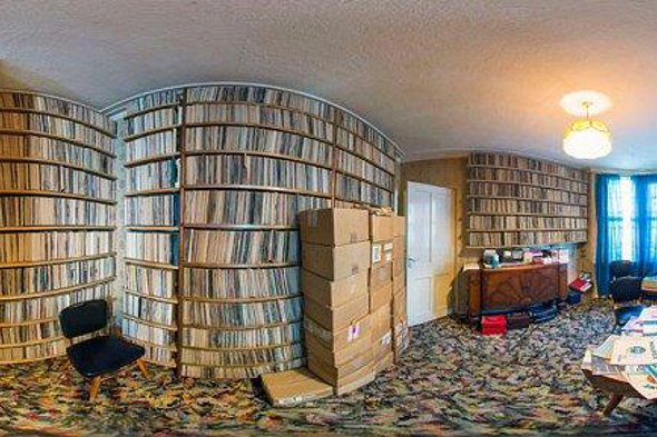 Keith Sivyer's record collection.
