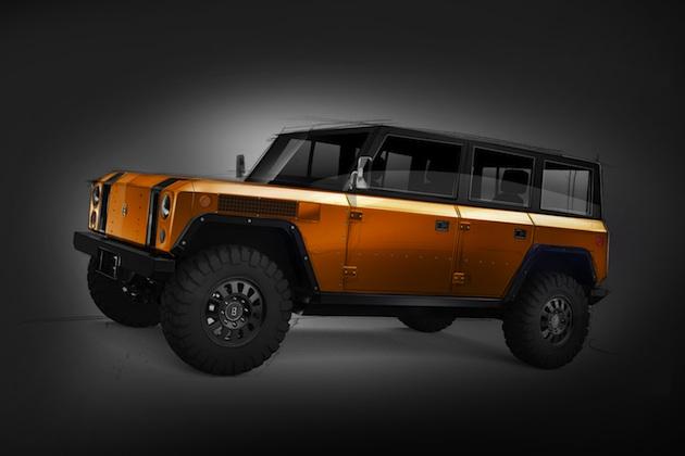 Bollinger Motors、オレンジ色で4ドアになった電動オフロード・トラック「B1」の画像を公開