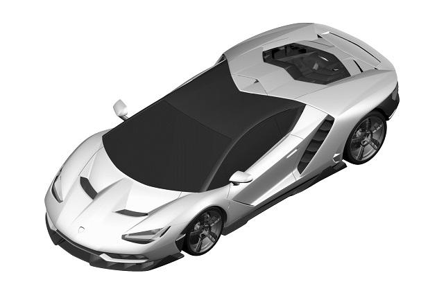ランボルギーニの未発表スーパーカー「センテナリオ」と思われるレンダリング画像が商標申請から明らかに