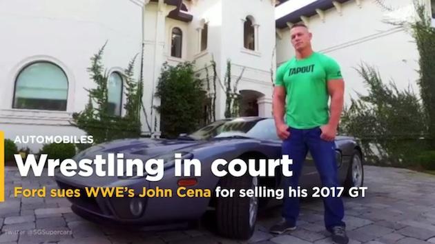 新型「フォード GT」を転売してフォードから訴えられたジョン・シナ、購入書類には営利目的で転売を禁止する項目はないと主張