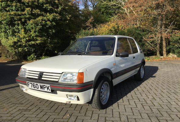 Classic Peugeot 205 GTis on offer at Classic Car Auction - AOL
