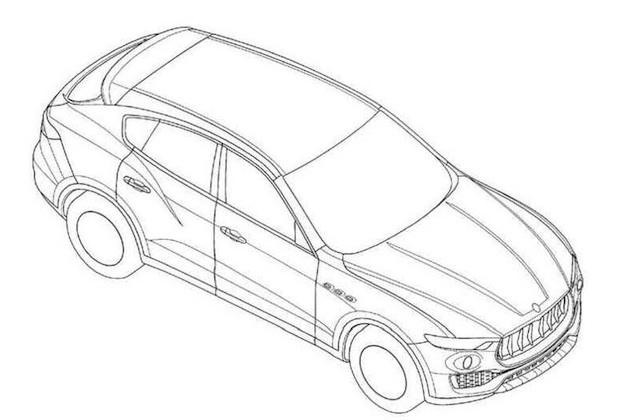 マセラティ初のSUV「レヴァンテ」の特許図面が明らかに