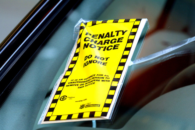 .................STOCK......TRANSPORT,,,,, Penalty charge notice in car windscreen at Notingham City Centre.  PRESS ASSOCIATION Photo, Monday February 19 2007.. Rui Vieira/PA