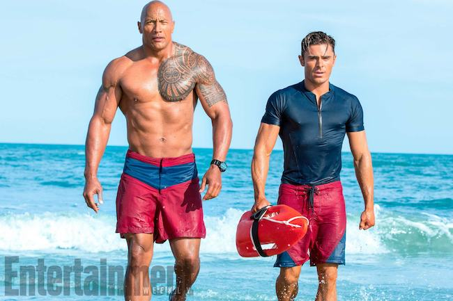Baywatch (2017)Dwayne Johnson as Mitch Buchannon and Zac Efron as Matt Brody