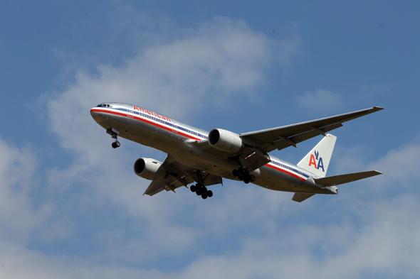 passenger plane tears open mid air