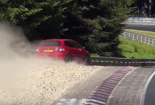Watch: Close calls at the Nurburgring