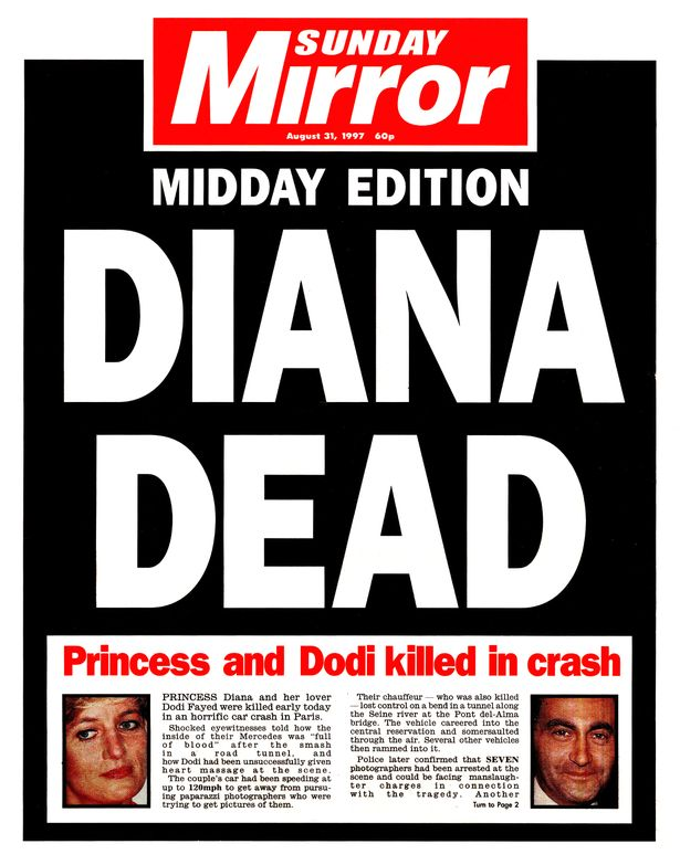 Diana should have been on holiday when she died in crash