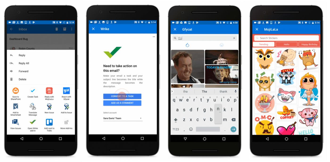 微軟把 Outlook 的三方 add-in 支援也帶到 Android 啦!