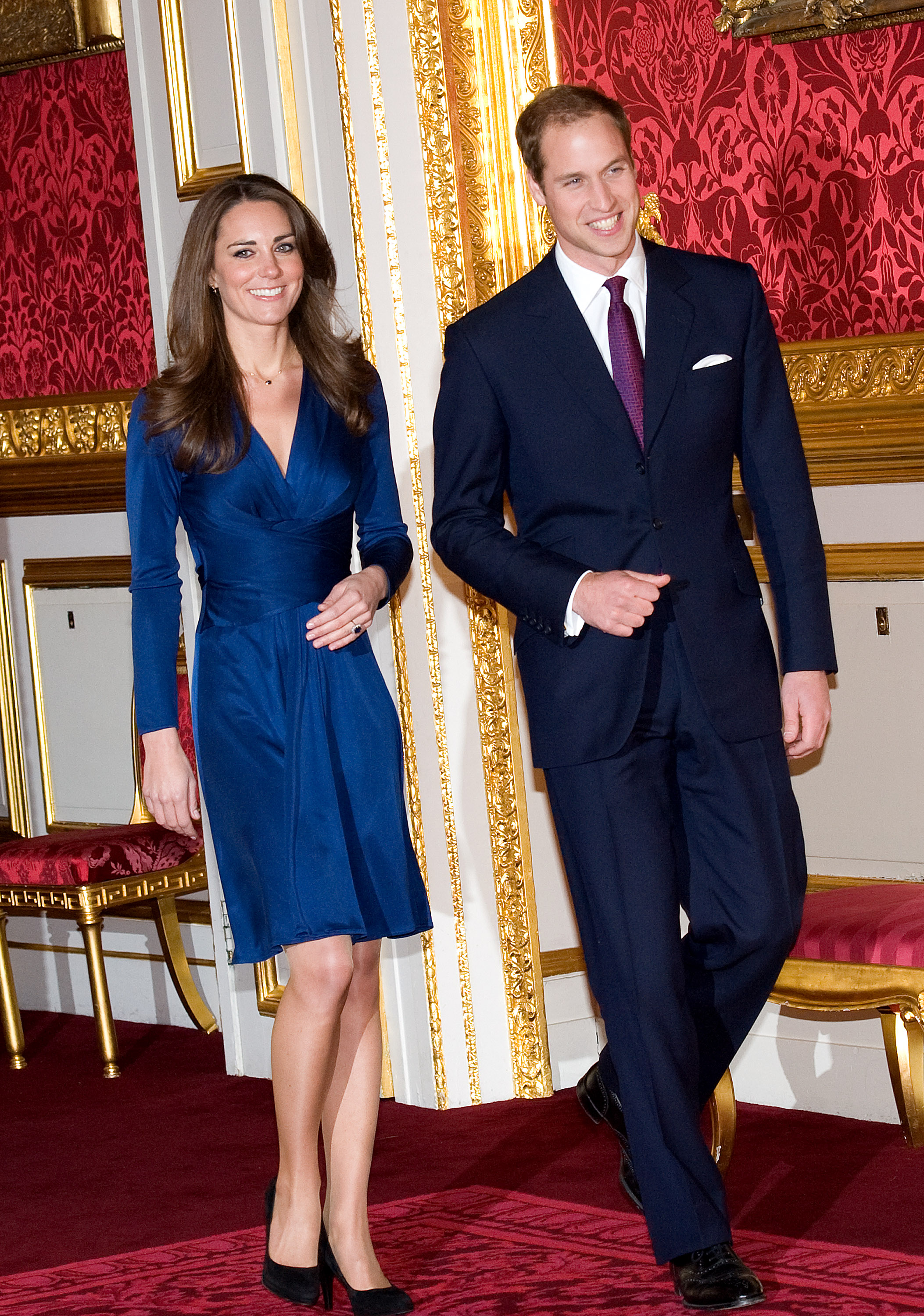 Announcement Of Prince William's Engagement To Kate Middleton