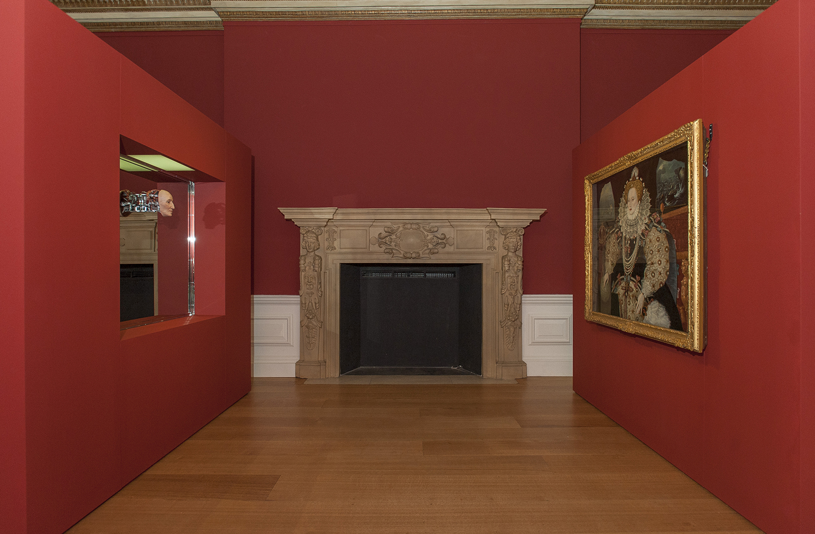 Installation Shots of Mat Collishaw's new commission in the Queen's House, Queen's Presence Chamber.