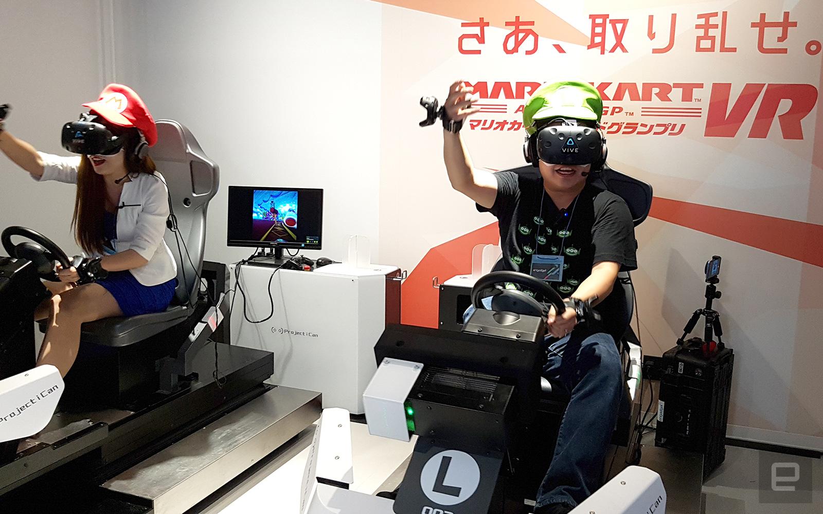 This japanese vr arcade put me inside 39 mario kart 39 for Virtual reality fishing