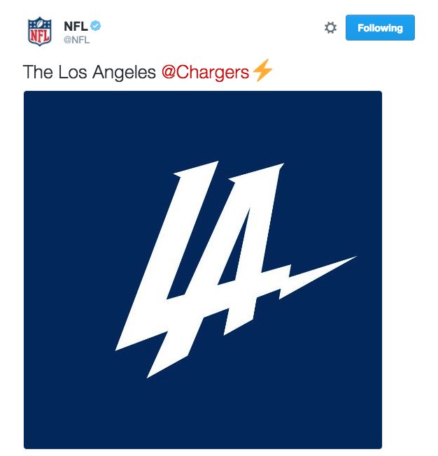 Los Angeles Chargers Reveal New Logo Promptly Get Mocked
