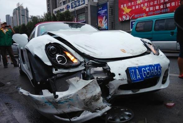Crashed Porsche Boxster