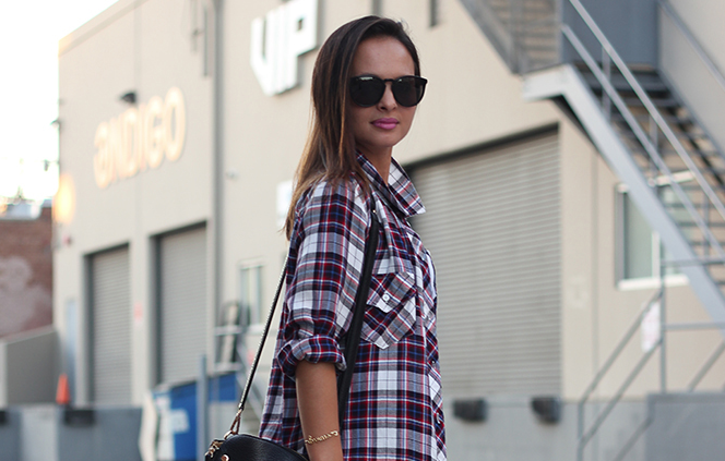 Yesterday's tip: A plaid shirt