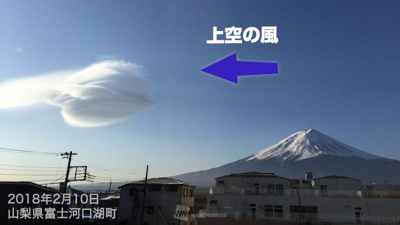 UFOの日」にUFO出現か。強風なの...
