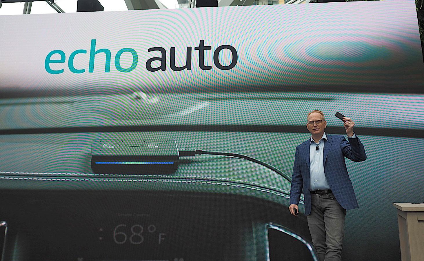 amazon s echo auto puts alexa in any car sound books. Black Bedroom Furniture Sets. Home Design Ideas