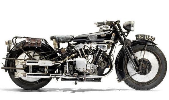 The Brough motorbike