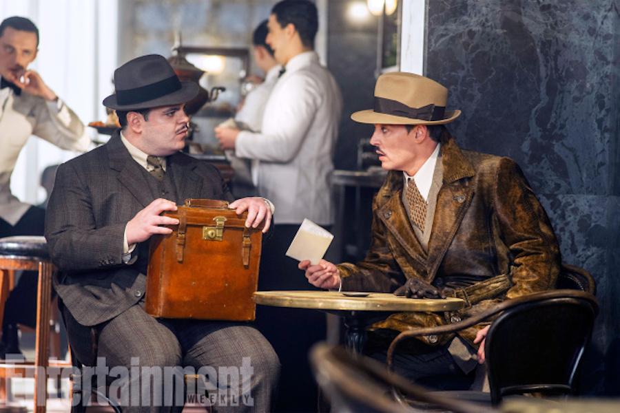 """Josh Gad, left, and Johnny Depp star in Twentieth Century Fox's """"Murder on the Orient Express."""" 2017 Twentieth Century Fox FIlm Corp."""