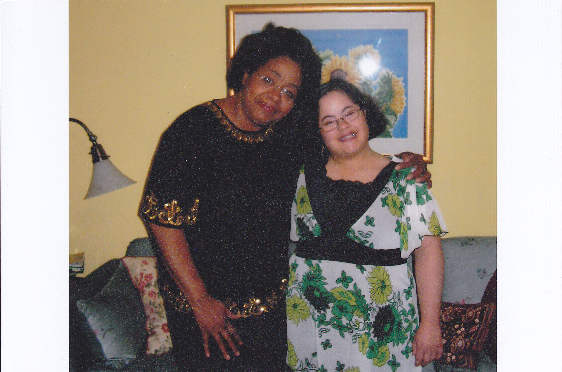 Enrica in her 20s with her mother Judith in the living room of the family home she grew up