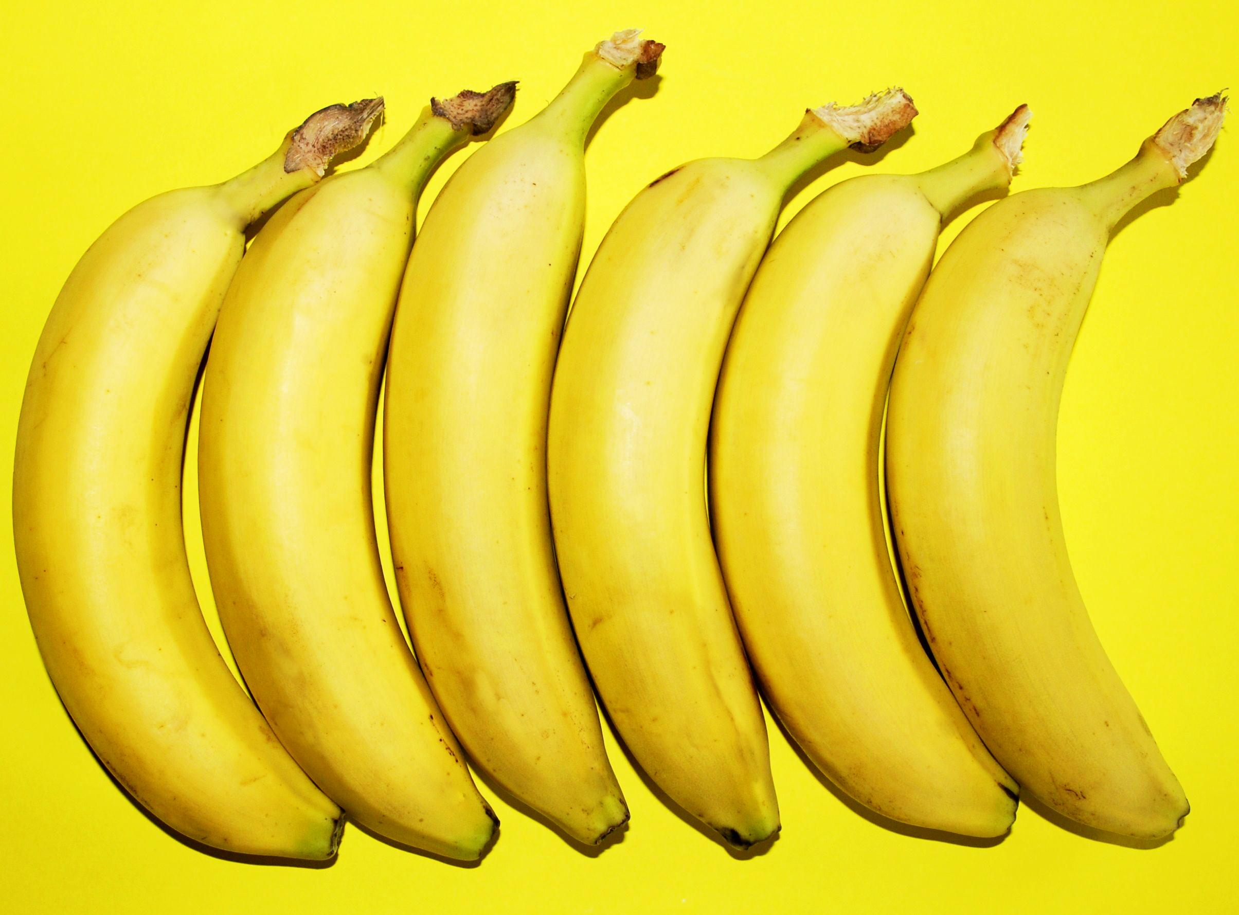 Bananas on yellow