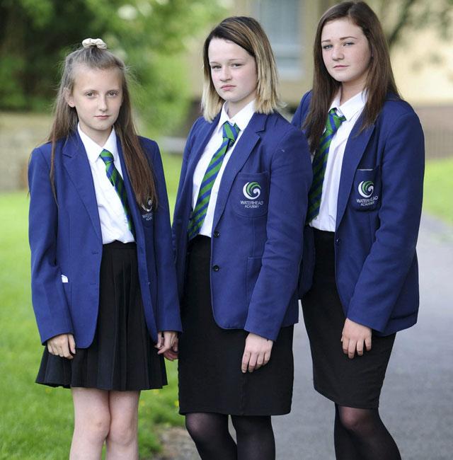 schoolgirls sent home for wearing kneelength skirts