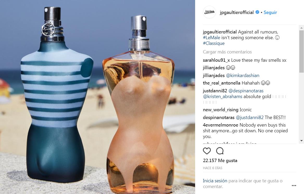 Los posteos de Jean Paul Gaultier contra Kim