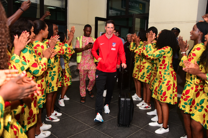 Nigerians welcomed Atletico Madrid to their country earlier this