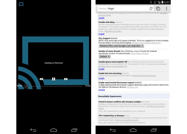 Android 最新版 Chrome Beta 现在可以更易地将网页影片发送到 Chromecast