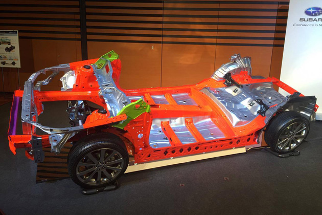 富士重工業、今後のスバル全車種の骨格となる「スバルグローバルプラットフォーム」が公開