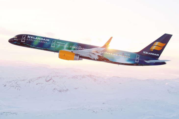 Icelandair Northern Lights plane