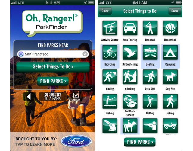 Oh Ranger Park Finder