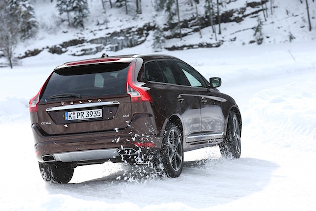 Volvo XC60, exterior, rear, side, driving, winter