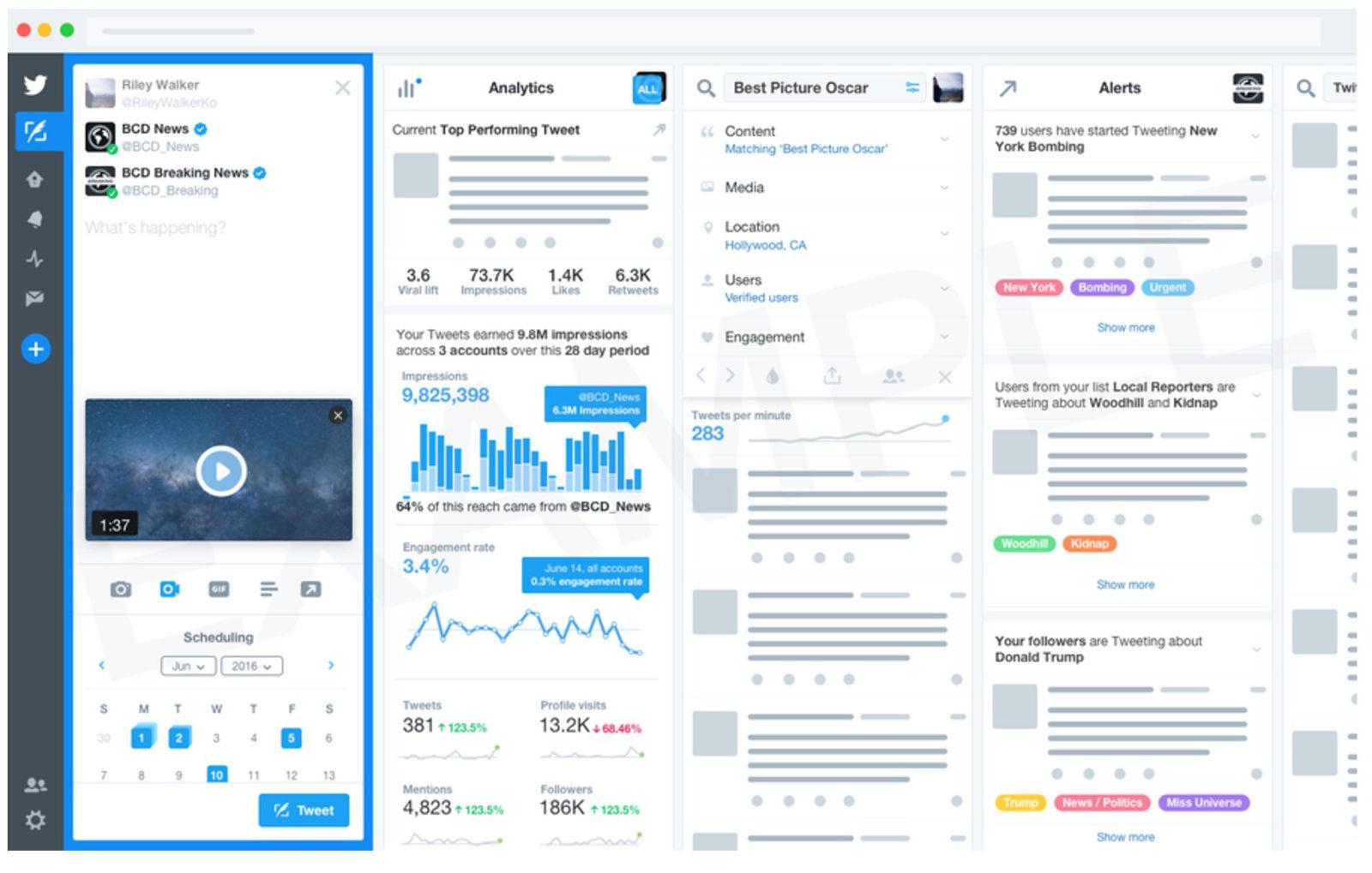 twitter tweetdeck API applicazioni
