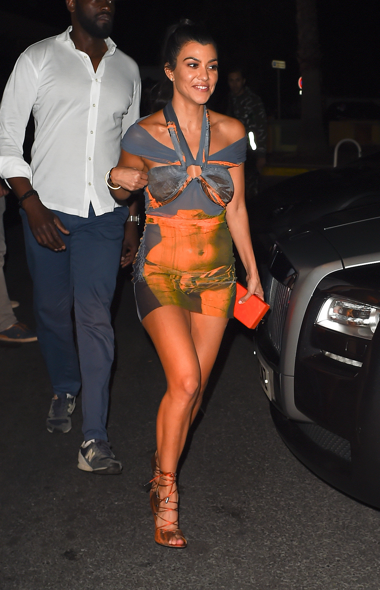 Kourtney Kardashian & Younes Bendjima are seen leaving Gotha nightclub in Cannes at 4am, Kourtney looked worst for wear as she got into the wrong car, after boyfriend Younes pointed out that it was the Ferrari that they were leaving in, the couple drove back to their super yacht that they are staying on in Cannes <P> Pictured: Kourtney Kardashian ,Younes Bendjima <B>Ref: SPL1505750  230517  </B><BR/> Picture by: Neil Warner/ Eade  Splash News<BR/> </P><P> <B>Splash News and Pictures</B><BR/> Los Angeles:310-821-2666<BR/> New York:212-619-2666<BR/> London:870-934-2666<BR/> photodesk@splashnews.com<BR/> </P>