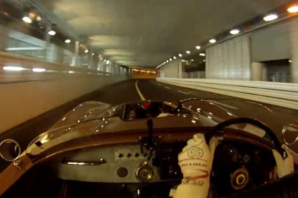 Jaguar C-Type races around Monaco