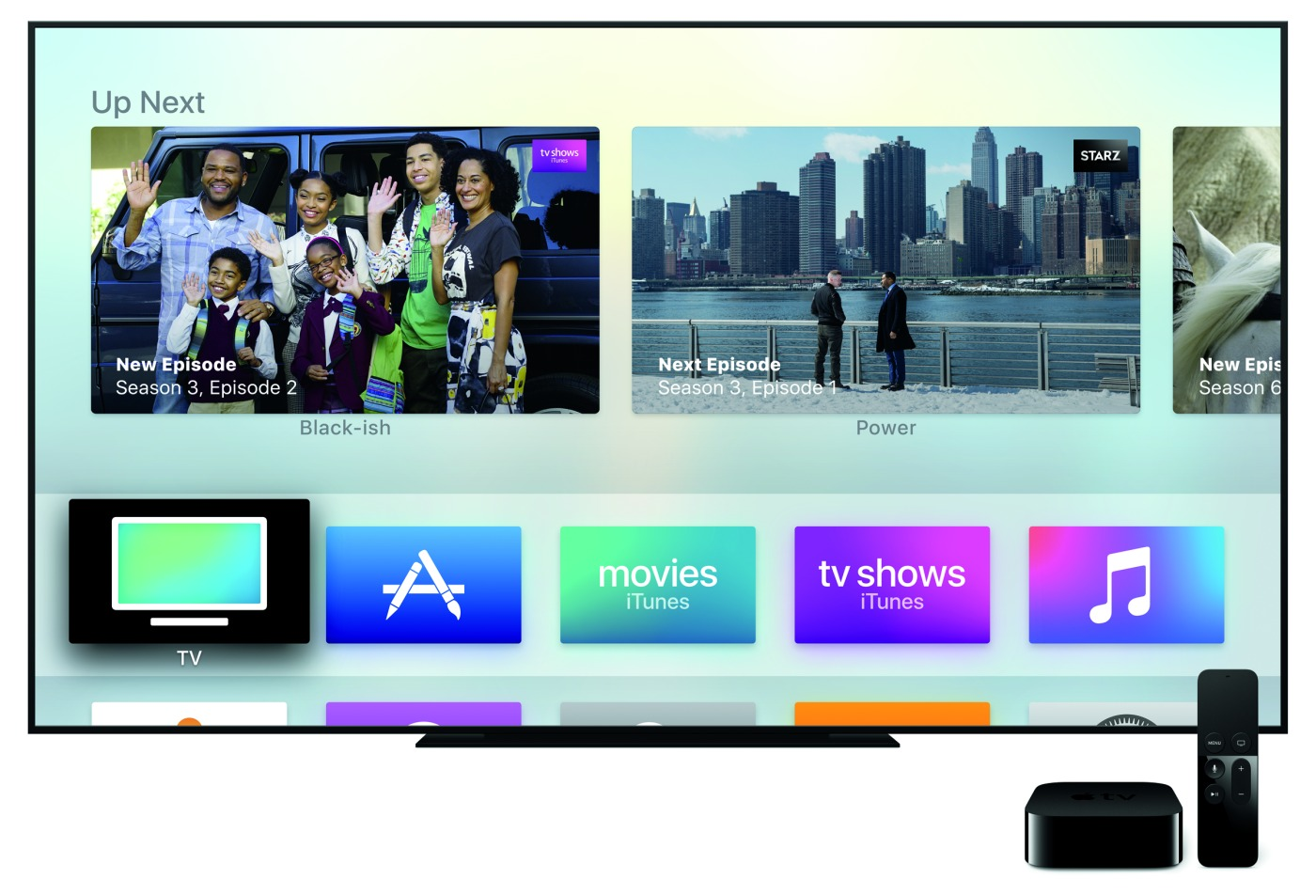 Apple TV's TV app on a TV
