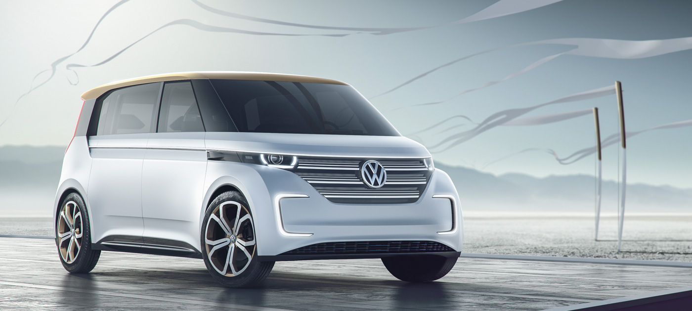 vw shows   quick charging electric microbus concept