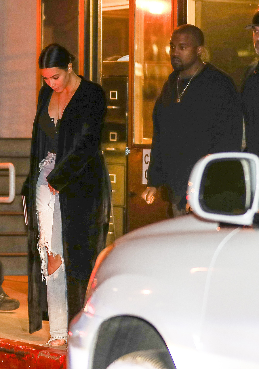 AG_188781 -  - Brentwood, CA - Kim Kardashian and Kanye West are spotted on a casual date night. Kim shows some major cleavage as she slips into her car with her husband after grabbing food on a Saturday night.  Pictured: Kim Kardashian, Kanye West  AKM-GSI 8 APRIL 2017  BYLINE MUST READ: SPOT / AKM-GSI    Maria Buda (917) 242-1505 mbuda@akmgsi.com   Mark Satter (317) 691-9592 msatter@akmgsi.com or sales@akmgsi.com