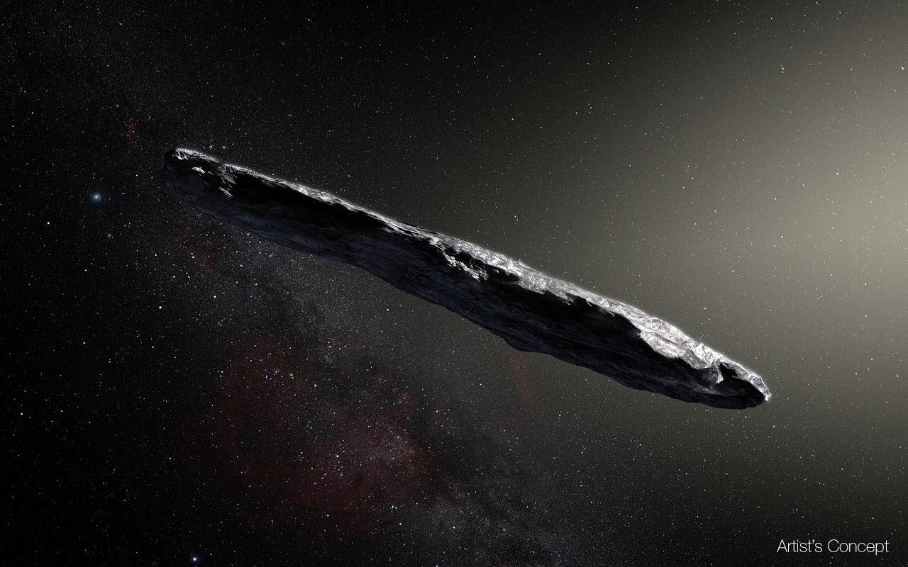 史上初 太陽系外から飛来した Oumuamua は葉巻型の小惑星 去りゆく