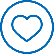 Advertiser icon showing an encircled heart
