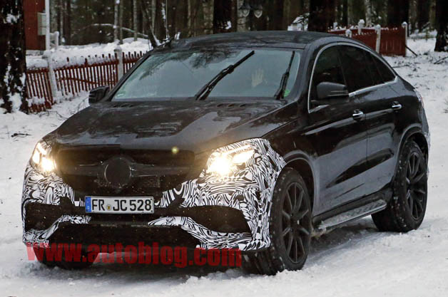 Mercedes GLE Coupe spy shot