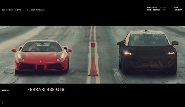 ファラデー・フューチャーの新型車が、フェラーリやベントレー、テスラを相手にドラッグ・レースで対決
