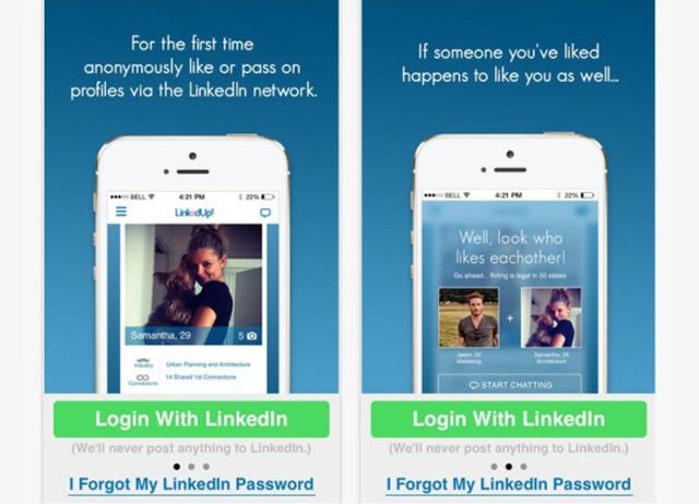 Dating app using linkedin