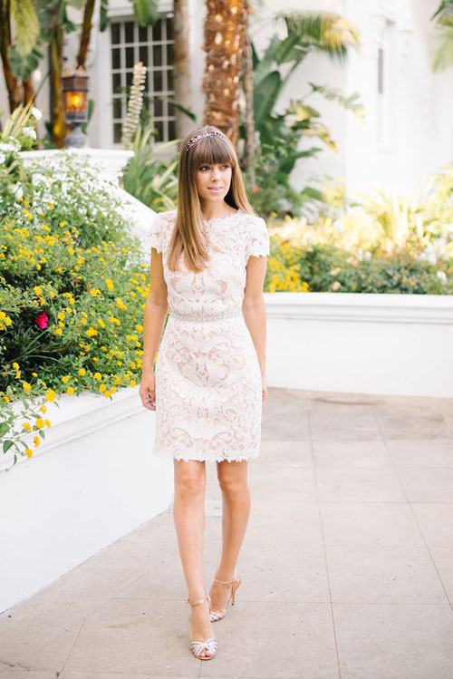 21 incredibly adorable short wedding dresses aol lifestyle dress by marchesa junglespirit Images