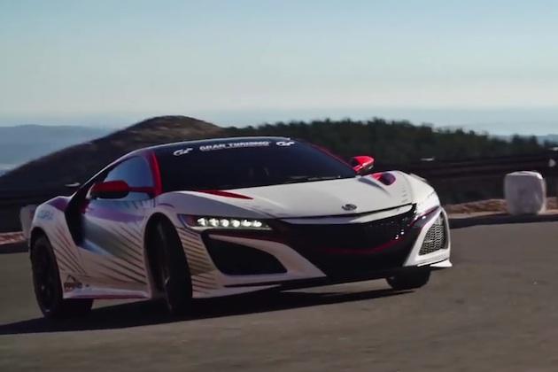 【ビデオ】アキュラ、パイクスピークで公式ペースカーを務めた新型「NSX」の映像を公開!
