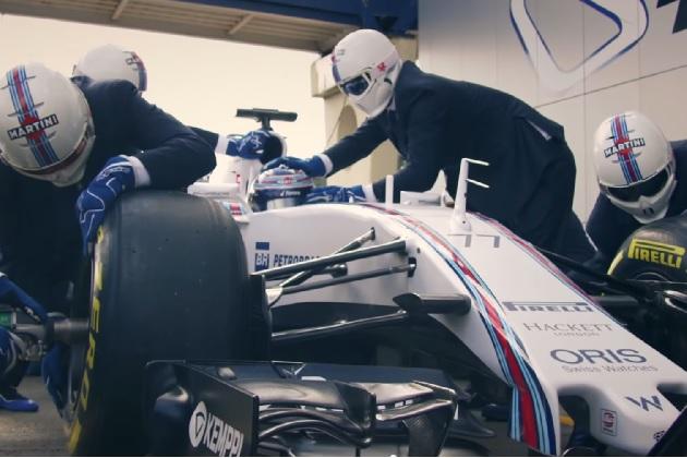 【ビデオ】最高にスタイリッシュな装いで作業をこなす、ウィリアムズF1チームのピットクルー